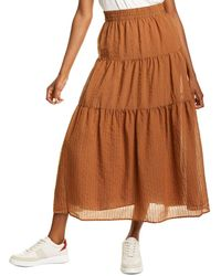 Line & Dot Marcella Maxi Skirt - Brown