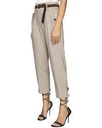 Reiss Marta Linen-blend Tapered Pant - Grey