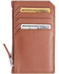 Royce - Zippered Credit Card Wallet - Lyst