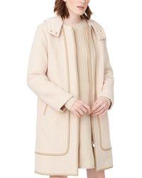 Club Monaco Leanor Wool-blend Coat - Natural
