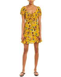 Band Of Gypsies Melbourne Floral Dress - Yellow