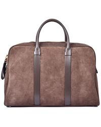 Tom Ford Suede Briefcase - Brown