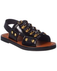 Dior Studded Leather Sandal - Black