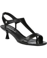 Donald J Pliner Caro Metallic Sandal - Black