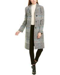 Cinzia Rocca Long Wool-blend Coat - Black