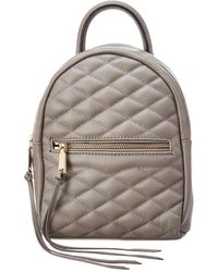 Rebecca Minkoff Madison Small Leather Backpack - Gray