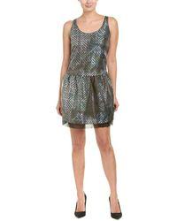 Armani Silk-blend Shift Dress - Green