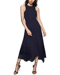 Reiss Romi Midi Dress - Blue