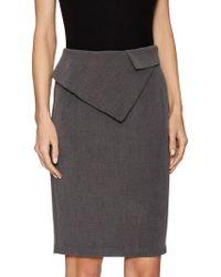 Pure Navy - Peplum Pencil Skirt - Lyst