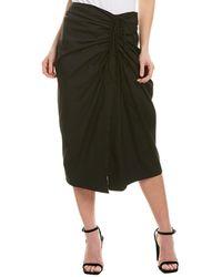 Carolina Herrera Wrap Skirt - Black