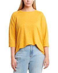 Eileen Fisher Plus Linen Top - Yellow