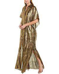 Michael Kors Silk-blend Caftan - Metallic