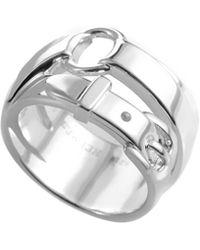 Hermès Belt Silver Ring - Metallic