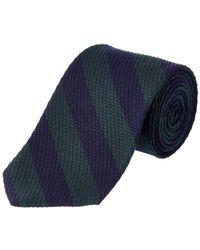 Brooks Brothers - Green Striped Wool-silk Blend Tie - Lyst