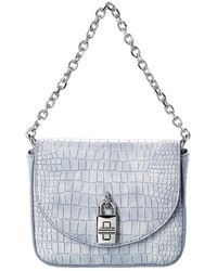 Rebecca Minkoff Love Too Croc-embossed Leather Micro Bag - Blue