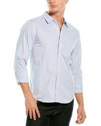 Michael Stars Slim Fit Woven Shirt - Blue