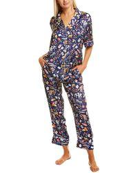Karen Mabon 2pc Pyjama Shirt & Pant Set - Blue