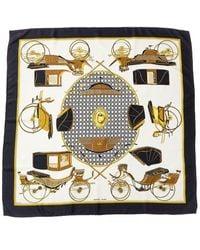 """Hermès """"les Voitures A Transformation,"""" By Francoise De La Perriere Silk Scarf - Black"""