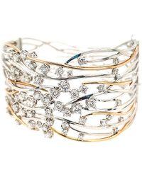 Diana M. Jewels . Fine Jewellery 14k Two-tone 4.05 Ct. Tw. Diamond Bangle