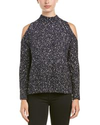 Rebecca Taylor Cold Shoulder Jumper - Black