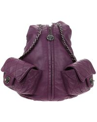 Chanel Leather Backpack - Purple