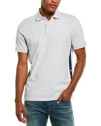 G-Star RAW Raw Side Stripe Polo Shirt - Grey