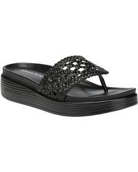 Donald J Pliner Fifi20 Leather Sandal - Black