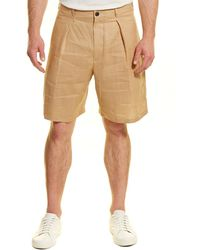 Billy Reid Wesley Linen Short - Brown