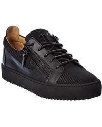 Giuseppe Zanotti Leather-trim Trainer - Black
