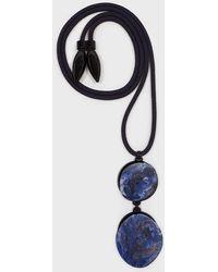 Giorgio Armani Collana con pendenti effetto pietra - Blu