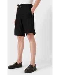 Giorgio Armani Mesh-look Stretch Jersey Bermuda Shorts - Black