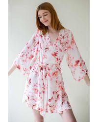 Girl&aSeriousDream Botanical Love Bridesmaids Robes Bridal Robe - Pink