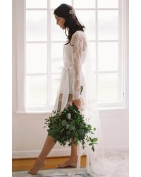 Girl&aSeriousDream Camellia Bridal Lace Robe - White
