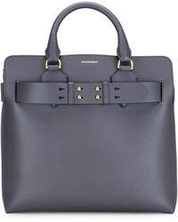 Burberry Medium Leather Belt Bag - Blue