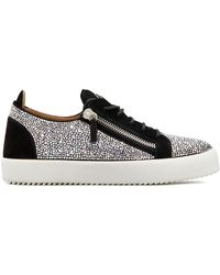 Giuseppe Zanotti Low Top Crystal-embellished Sneakers - Black