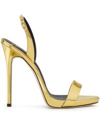 Giuseppe Zanotti - Mirrored Patent Leather 'sophie' Sandal Sophie - Lyst