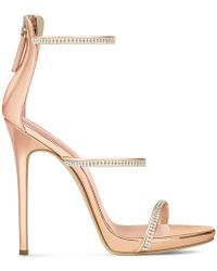 Giuseppe Zanotti Patent Leather 'harmony' Sandal With Crystals Harmony Sparkle - Multicolour