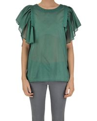 Ki6? Who Are You? - Cotton And Linen Top - Lyst