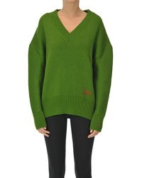 AMI Oversized Wool Pullover - Green