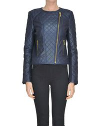 MICHAEL Michael Kors - Quilted Leather Jacket - Lyst