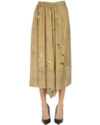 Y's Yohji Yamamoto - Printed Skirt Pants - Lyst