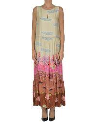 Soallure - Printed Satin Dress - Lyst