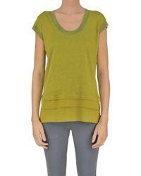 Seventy - Women's Green Linen Jumper - Lyst