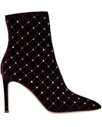 Valentino Rockstud Spike Ankle Boots - Black