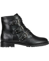 Schutz Studded Leather Boots - Black
