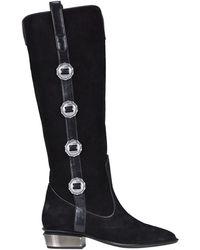 KATE CATE Ranchera Texan Boots - Black