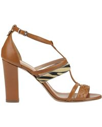 Twin Set - Haircalf Insert Leather Sandals - Lyst