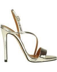 Marc Ellis Metallic Effect Leather Sandals
