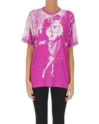 N°21 T-shirt stampata - Rosa