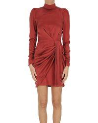 Zimmermann Mini abito in seta - Rosso